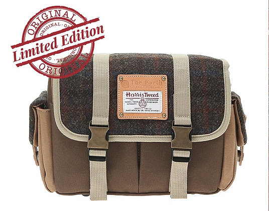 HARRIS TWEED CAMERA BAG - DARK BROWN