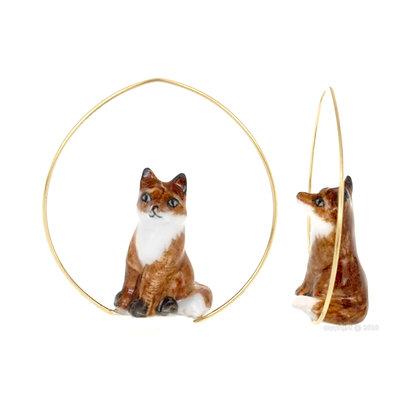 Nach - Fox Creoles Earring