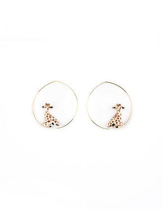 NACH BIJOUX - Giraffe Hoop Earrings J305