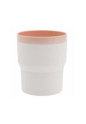 1616 Mug - pink & white