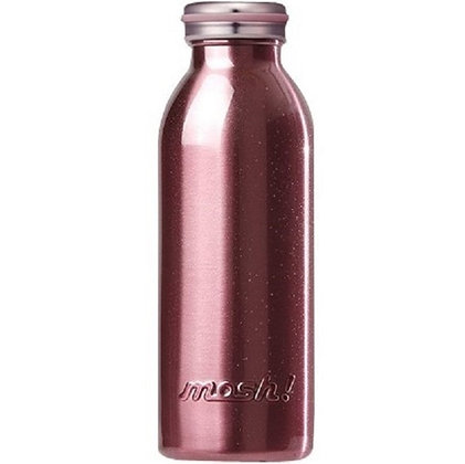 MOSH - Stainless Steel Bottle 450ml - Pearl Pink