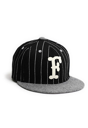 Filter017 F Fonts Stripe Snapback Cap