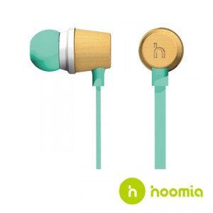 hoomia - Bon5s 木樂原聲入耳式立體聲耳機 (Tiffany綠)