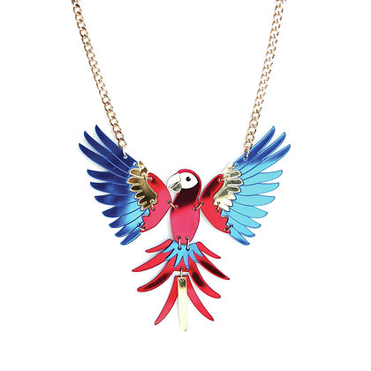 Scarlet Macaw Necklace