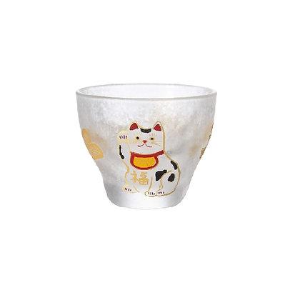 ADERIA - めでたmono 玻璃小酒杯 招財貓