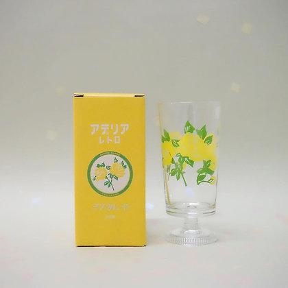 ADERIA - 昭和復古花朵高腳杯 (假面舞會)