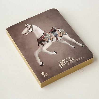 九口山 - 原創Imaginote320P牛皮紙裸裝空白內頁筆記本 - 旋轉木馬