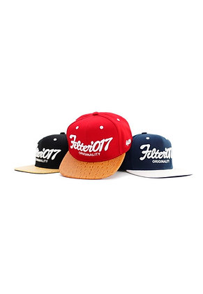 Filter017 VINTAGE FONTS SNAPBACK CAP - CROCODILE