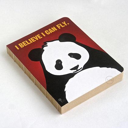 九口山 - 原創320P牛皮紙裸裝空白內頁手帳筆記本 - 熊貓