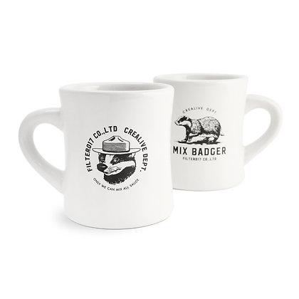 Filter017 Mix Badger Diner Mug