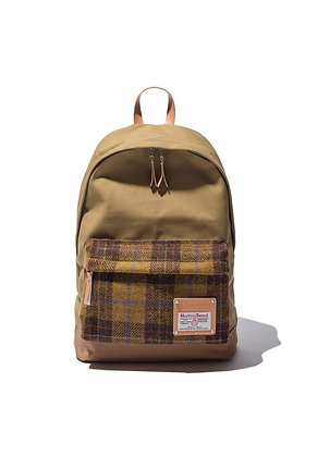 The earth - HARRIS TWEED DAYPACK-MUSTARD