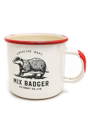 Filter017 x Jiukoushan Mix Badger Enamel Cup