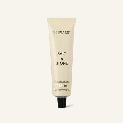 SALT & STONE - Lightweight Sheer Daily Sunscreen SPF 40