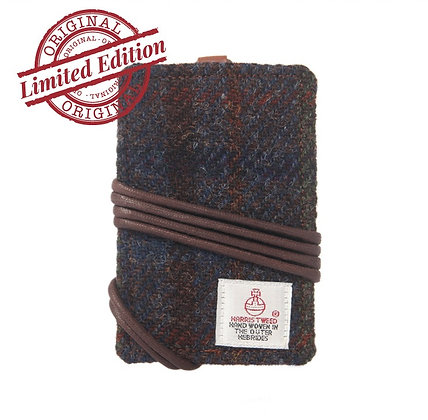 HARRIS TWEED CARD HOLDER - MAHOGANY