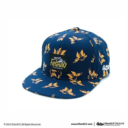 Monster Anatidae Pattern Snapback Cap S56 (Blue)