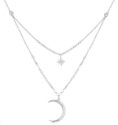 Love By The Moon -Selene Silver Necklace