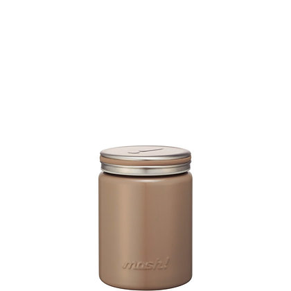 MOSH -  Stainless Steel Thermo Food Pot 420ml - Brown