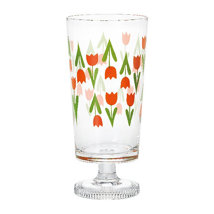 ADERIA - 昭和復古花朵高腳杯 (高樂克)