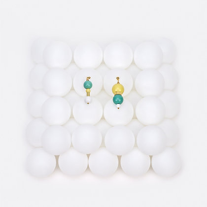 ZO-EE - MINT YELLOW BUBBLE GUM EARRINGS