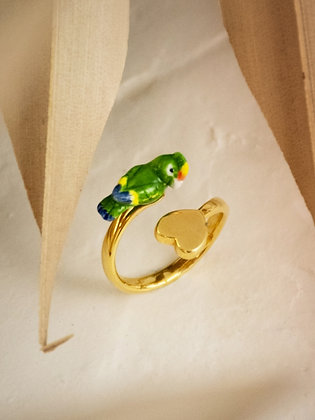 Nach - GREEN PARROT ADJUSTABLE RING - NACH MON AMOUR