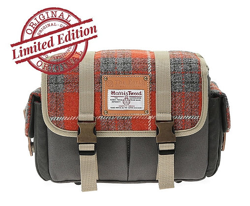 HARRIS TWEED CAMERA BAG - ORANGE