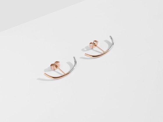 MADEGREY - 2-Tone Cuff Earrings | Rose Gold