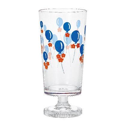 ADERIA - 昭和復古花朵高腳杯 (氣球)