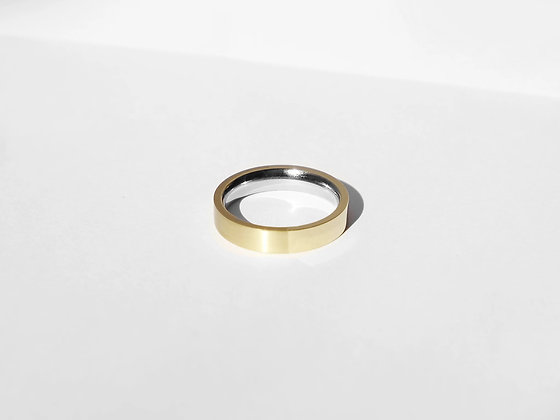 MADEGREY - Dual Texture Ring | Gold