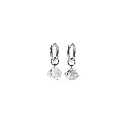 AGARIC GARDEN - Aura 雙尖水晶圓圈耳環 項鍊 兩用設計款