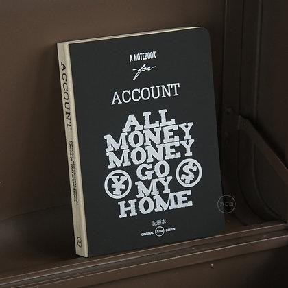 九口山 Document2.0生活主題系列256page賬本 All money go my hm