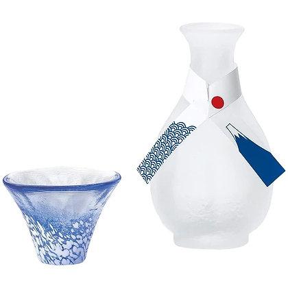 TOYO SASAKI - 富士山招福杯 青富士流彩清酒杯壺禮盒套裝