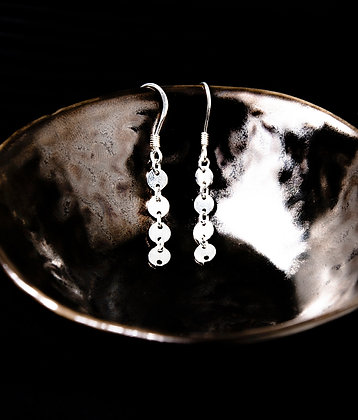 Adam Minusculave - AT THE EDEN COLLECTION   SILVER DIT AND DOT EARRINGS