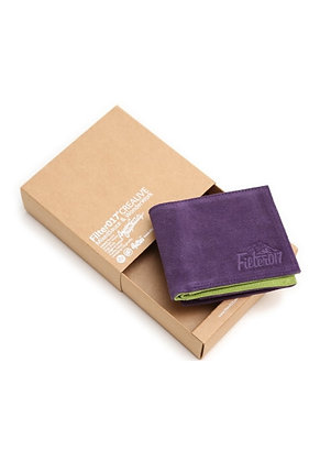 Filter017 Outdoor Logo Suede Wallet - purple
