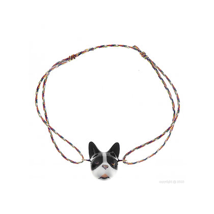 Nach - Black&White French Bulldog multicolor charm's
