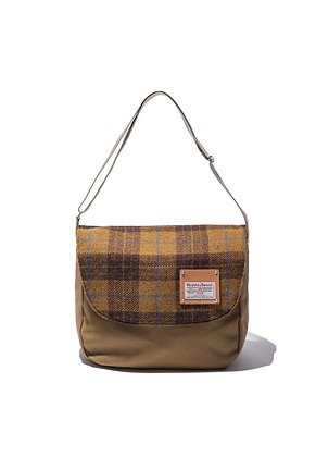 The earth - HARRIS TWEED CROSS BAG - MUSTARD
