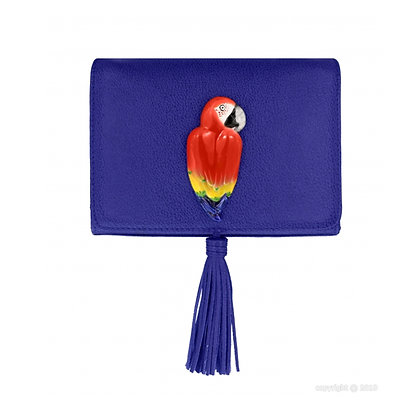 Nach - Blue cross bag with red parrot