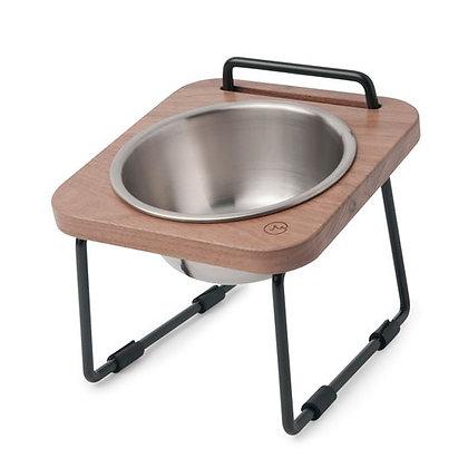 XS12 NATURAL WOOD ELEVATED PETS BOWL 原木寵物托高碗架 (胡桃木)