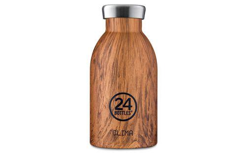 24 BOTTLES - Clima Bottles 330ml - Sequoia Wood