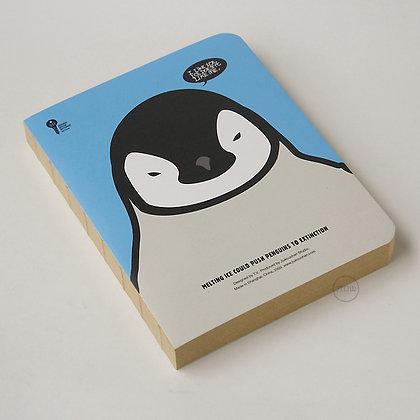 九口山 - 原創Imaginote320p牛皮紙裸裝筆記本 - 企鵝