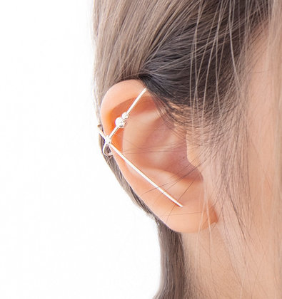 Adam Minusculave - ARTISAN JEWELLERY | SILVER MORSE CODE SINGLE EAR CUFF