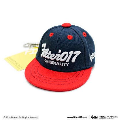 Mini Cap Keyholder 迷你全封帽鑰匙圈 / 藍+紅