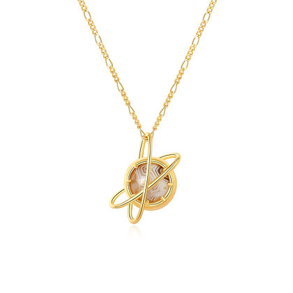 DREAMNICKER - Undefined planet Necklace (Gold)