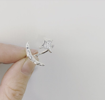 ShAnho - Moon and Star Ring