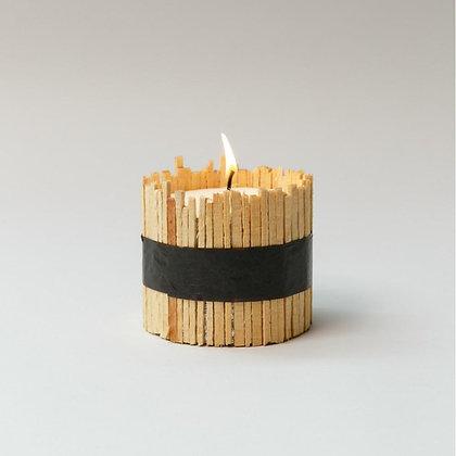 Cul de Sac JAPON - HIBA WOOD CANDLE TYPE 01 ウッドキャンドル 青森絲柏 ヒバ木蠟燭01