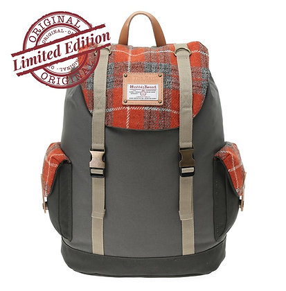 HARRIS TWEED RUCKSACK - ORANGE
