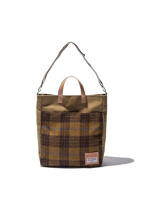 The earth - HARRIS TWEED TOTE&CROSS BAG - MUSTARD