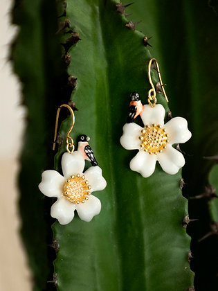 NACH BIJOUX - Flower & Bird Earring J382