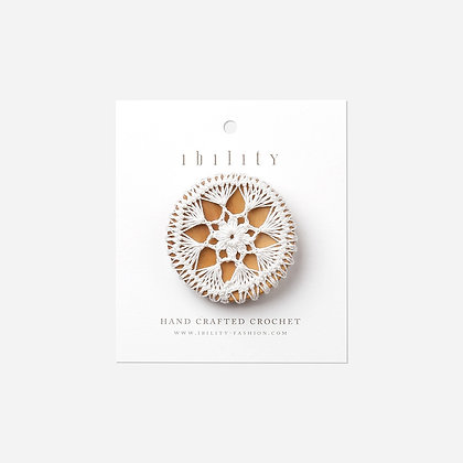 IBILITY- Kaleidoscope, Crochet Wooden Button Brooch