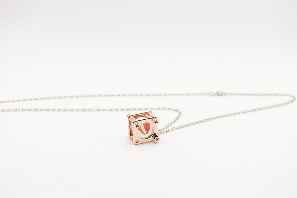 Playback - Trapped Marble Brass Necklace