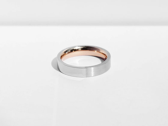 MADEGREY - Dual Texture Ring | Silver